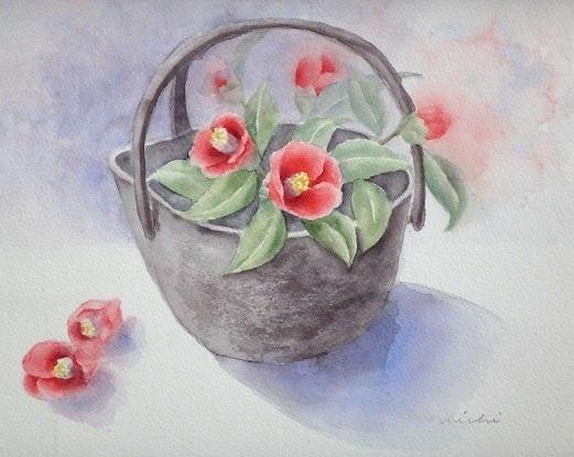 やぶ椿と花器A