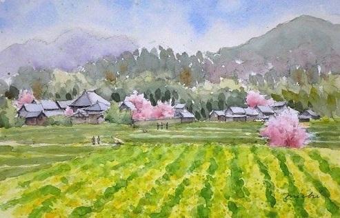 あすか寺方面桜D2014