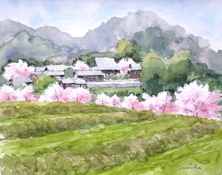 たちばな寺方面桜D2014