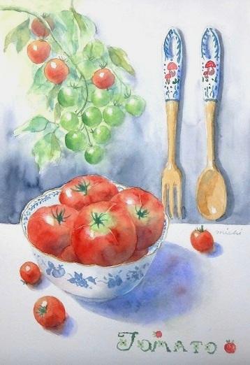 トマトのある食卓C2014