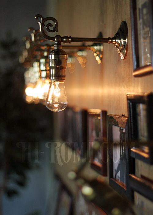 コロニアルフォーリッジスクロール真鍮ブラケットA ヴィクトリアンウォールランプ/壁掛け照明/唐草