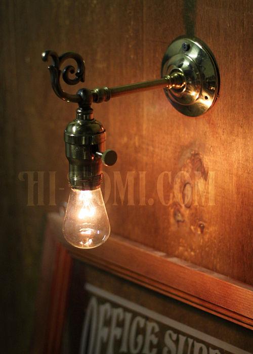 コロニアルフォーリッジスクロール真鍮ブラケット ヴィクトリアンウォールランプ/壁掛け照明/唐草