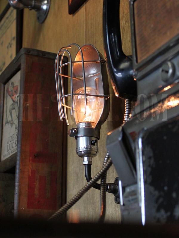 工業系ワイヤーケージミニブラケットD/インダストリアルトラブルライトウォールランプ/壁掛け照明