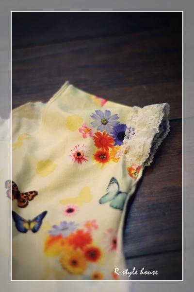 手作りお揃い花柄ワンピ