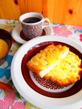 carrot potage × cheese toast