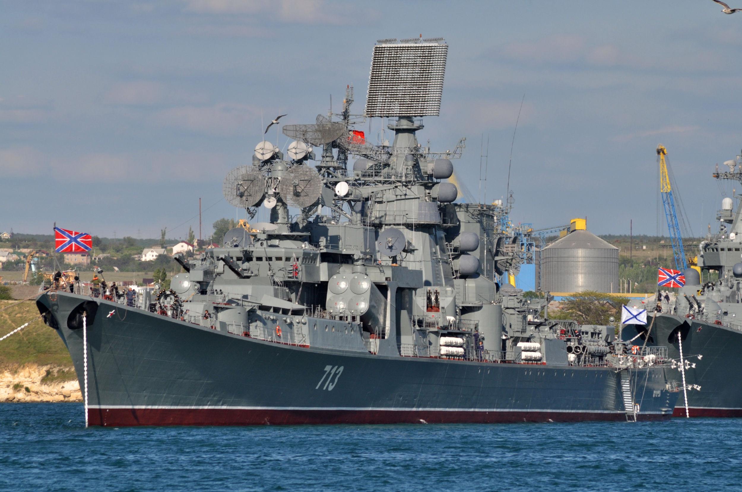 近代化改装される親衛ロケット巡洋艦モスクワに代わる黒海艦隊旗艦は2015年に選ばれる   N.G.クズネツォフ記念・ウリヤノフスク赤旗・親衛ロシア海軍情報管理局