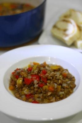 レンズ豆とパプリカの煮込み