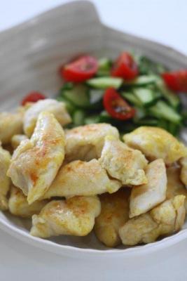 鶏ささみのカレーマヨ炒め