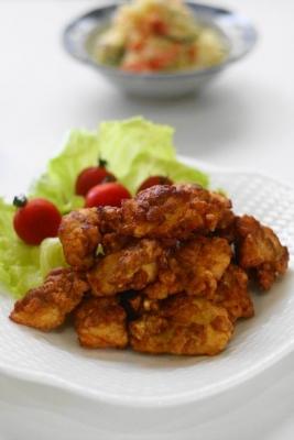 鶏胸肉の玄米唐揚げ1