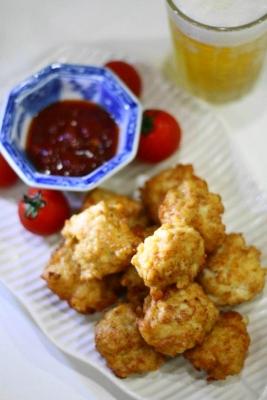 鶏胸肉deレッドホットチキンナゲット2