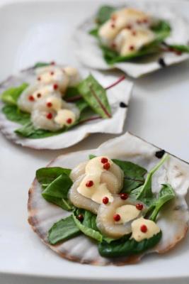 ホタテ貝のカルパッチョ