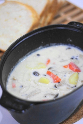 重ね煮野菜の豆乳シチュー