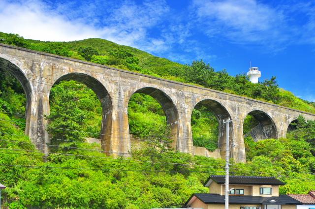 193. 汐首岬旧戸井線 アーチ橋