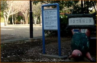 20140219 亀塚公園 入口2 バイクと衝突