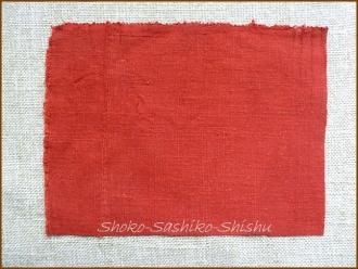 20140421 赤の生地 赤コースター