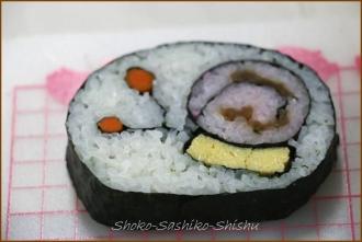 20140621 デモ花カタツムリ 2  飾り寿司