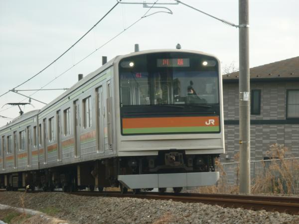 2014-02-28 八高線205系ハエ81編成 川越行き