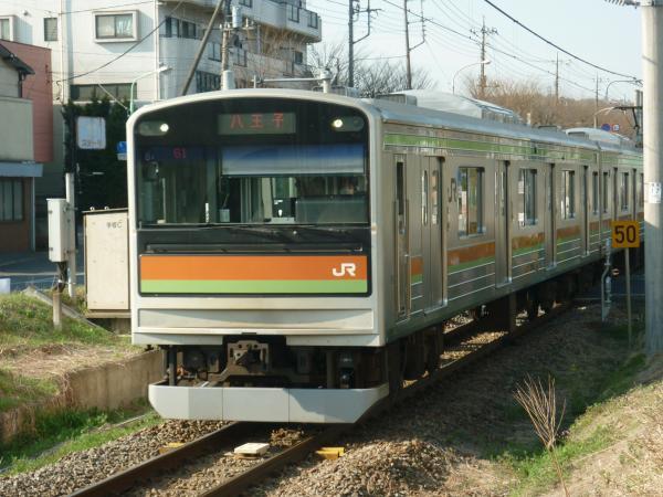 2014-03-28 八高線205系ハエ84編成 八王子行き1
