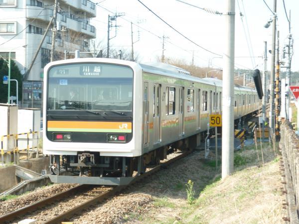 2014-03-28 八高線209系ハエ61編成 川越行き2