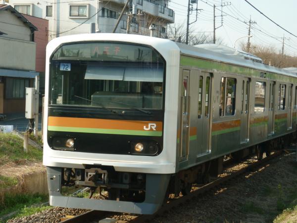 2014-03-28 八高線209系ハエ72編成 八王子行き1