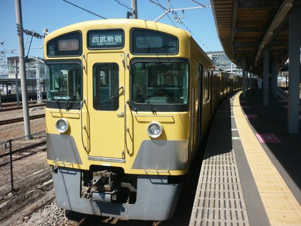 2014-03-31 西武2049F+2505F 急行西武新宿行き 2332レ