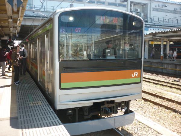2014-03-31 八高線205系ハエ82編成 川越行き2