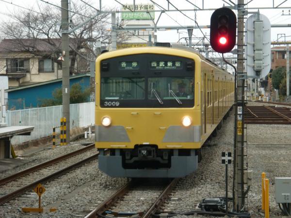 2014-02-28 西武3009F 各停西武新宿行き1