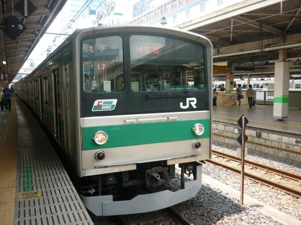 2013-06-23 埼京線205系ハエ17編成 大宮行き1
