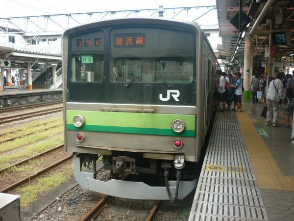 2014-07-21 横浜線205系クラH8編成 東神奈川行き