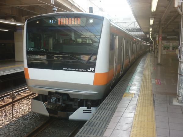 2014-07-21 中央線E233系トタT33編成 快速東京行き2