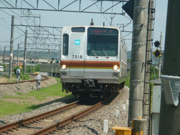 2014-07-30 メトロ7118F 快速急行飯能行き1 1705レ