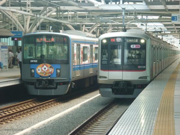 2014-07-30 西武20152F 東急5158F