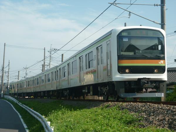 2014-07-30 八高線209系ハエ71編成 川越行き