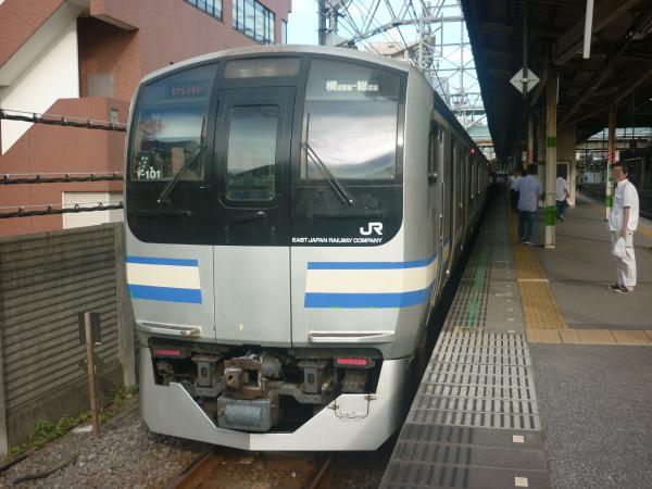 2014-08-03 横須賀線E217系Y-101編成 快速逗子行き