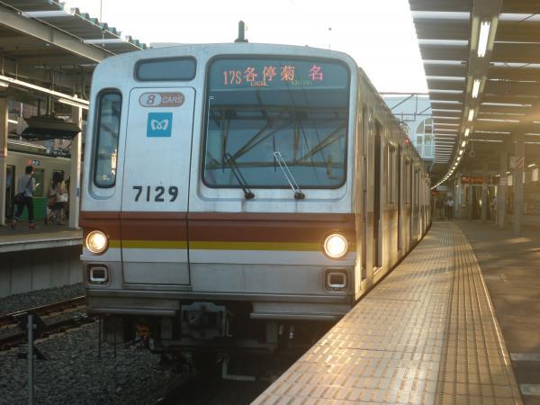 2014-08-18 メトロ7129F 各停菊名行き1 6672レ