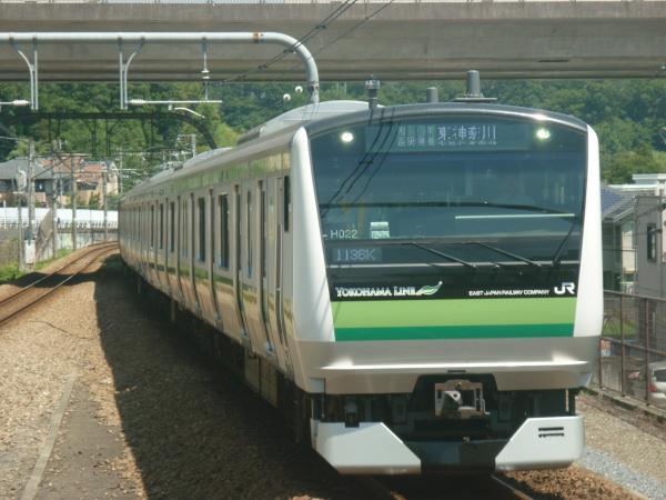 2014-08-20 横浜線E233系クラH022編成 東神奈川行き