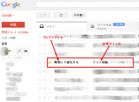 FeedBurnerフィードメールマガジンの送信テスト。件名