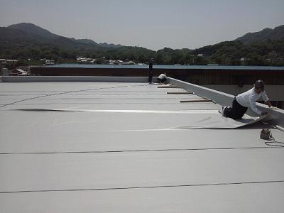 屋上塩ビシート防水
