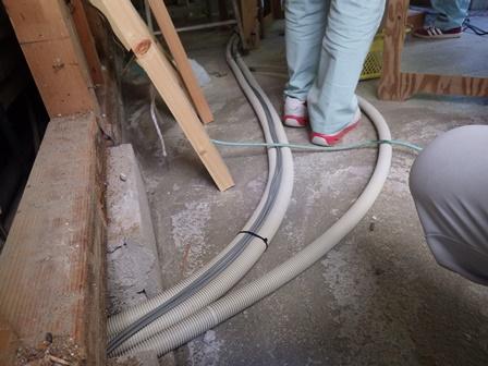 床暖房配管