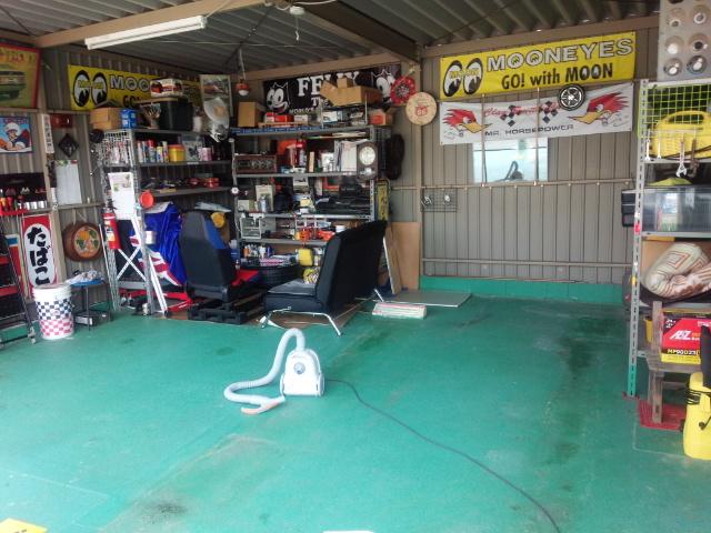 ガレージ掃除