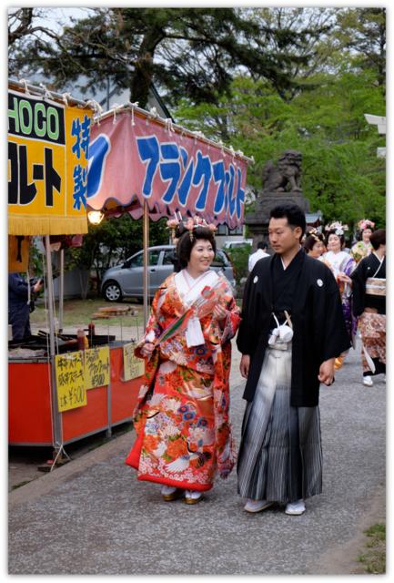 秋田県 能代市 御指南町 日吉神社 中の申祭 嫁見まつり