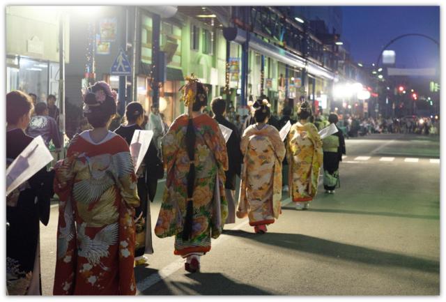 秋田県 能代市 御指南町 日吉神社 中の申祭 嫁見まつり 柳町商店街