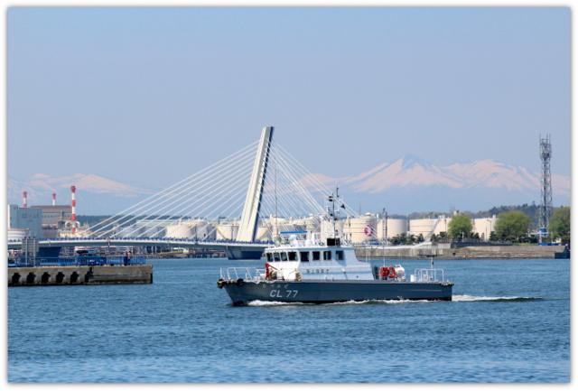 青森県 八戸市 海 港 八戸港 工業港 国際貿易港 うみねこ 写真 八戸ベイブリッジ 海上保安庁 むつかぜ
