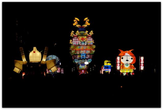 秋田県 能代市 祭り イベント 行事 能代 七夕 天空の不夜城 こども七夕 観光 写真