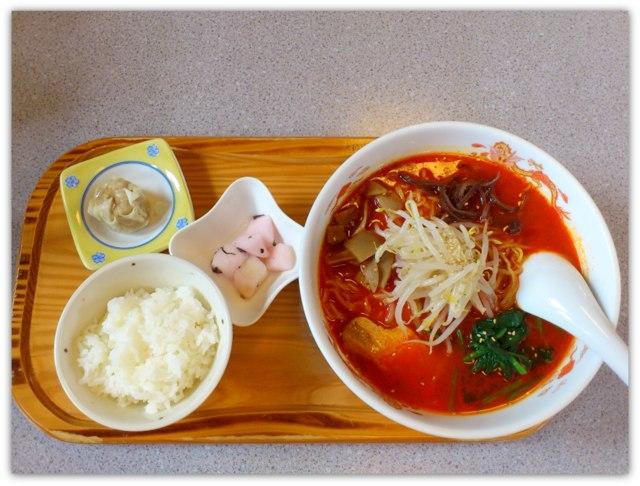 弘前 グルメ ランチ ラーメン 豚珍館 とんちんかん トンチンカン 真紅醤辛ラーメン 麺ランチ