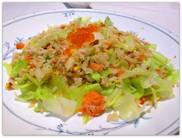 弘前 中国料理 豪華楼 生菜鮭炒飯
