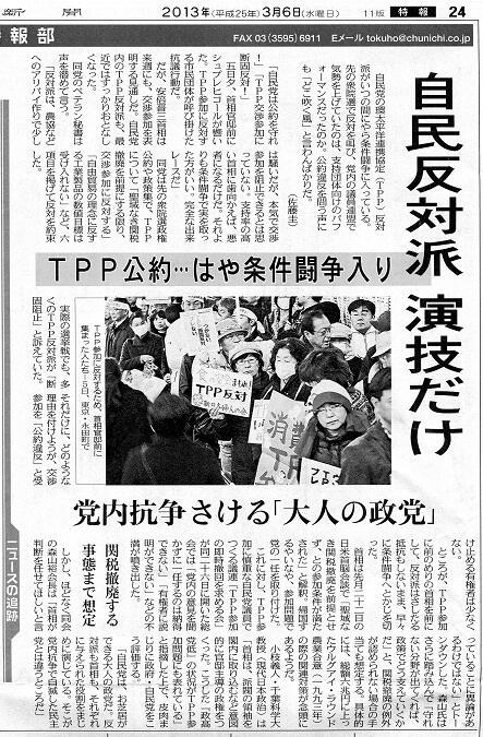 TPP 自民反対派 演技だけ
