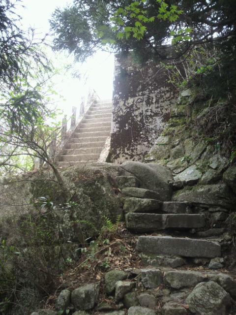 頂上まえ階段