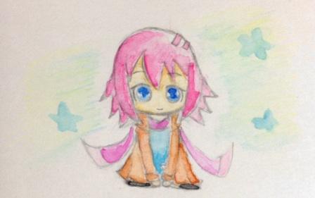 桜衣 水彩色鉛筆