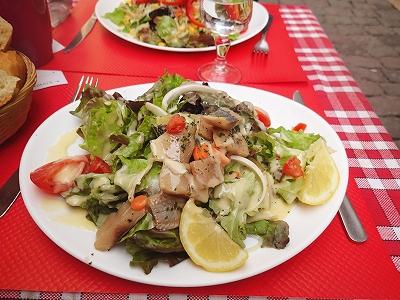 リヨンのお昼サラダ20140609